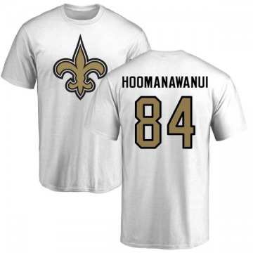 Men's Michael Hoomanawanui New Orleans Saints Name & Number Logo T-Shirt - White