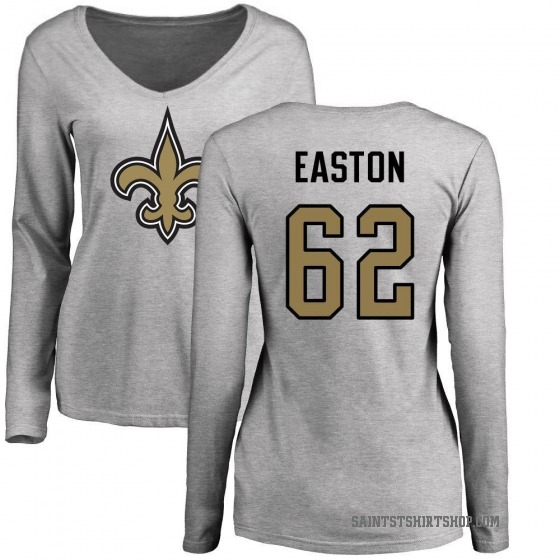 brand new fe7cd 154fa Women's Nick Easton New Orleans Saints Name & Number Logo Slim Fit Long  Sleeve T-Shirt - Ash
